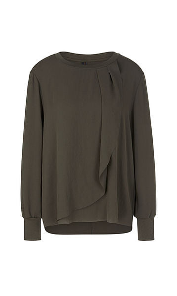 Marc Cain Sport Blouse-style top with pleated detail