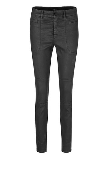 Marc Cain Jeans with leather look finish