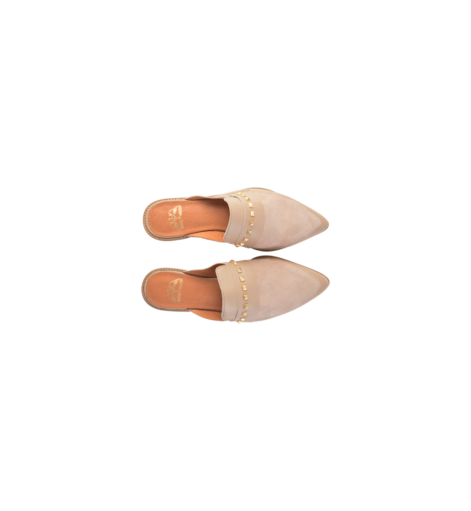 Mos Mosh Doha Suede Flat (backless loafer)