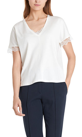 Marc Cain T-Shirt with lace trim