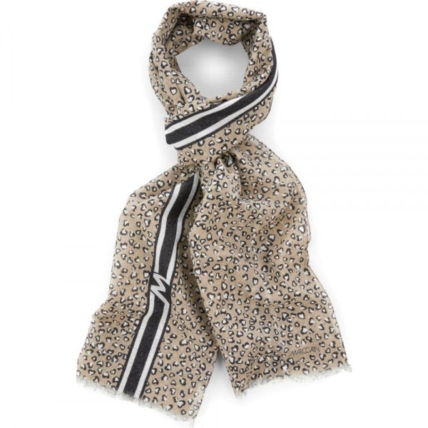Marc Cain Scarf with leopard pattern