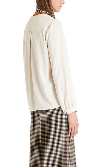 Marc Cain Flowing bow-neck blouse