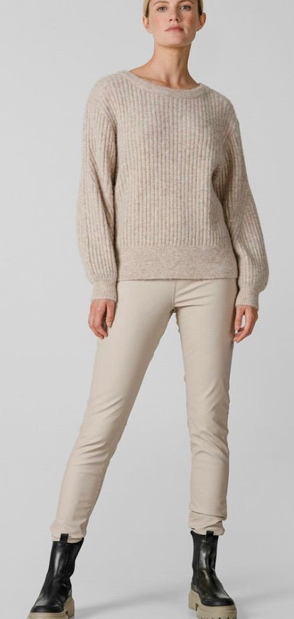 Knit-ted Amber Sand Eco-Leather Pants