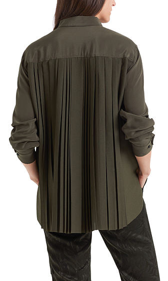 Marc Cain Silk blouse with pleats