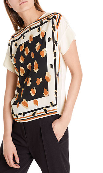 Marc Cain Blouse-style top in mixed materials