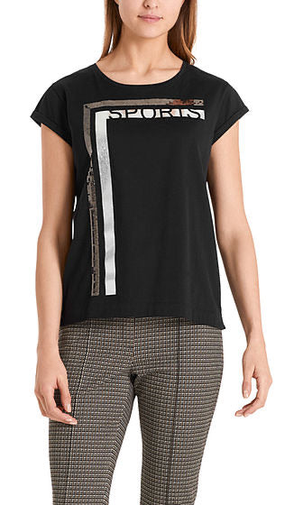 Marc Cain Glamorous T-shirt with sequins