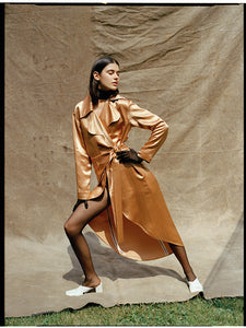 Caramel dress coat
