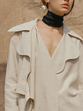 Load image into Gallery viewer, Linen trench coat