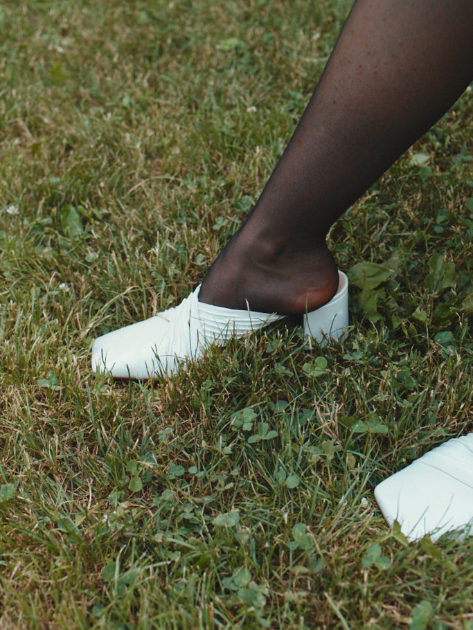 White Nannah mules  (Pre-order only)