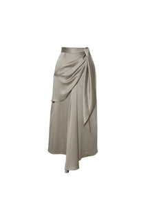 Asymetric midi skirt