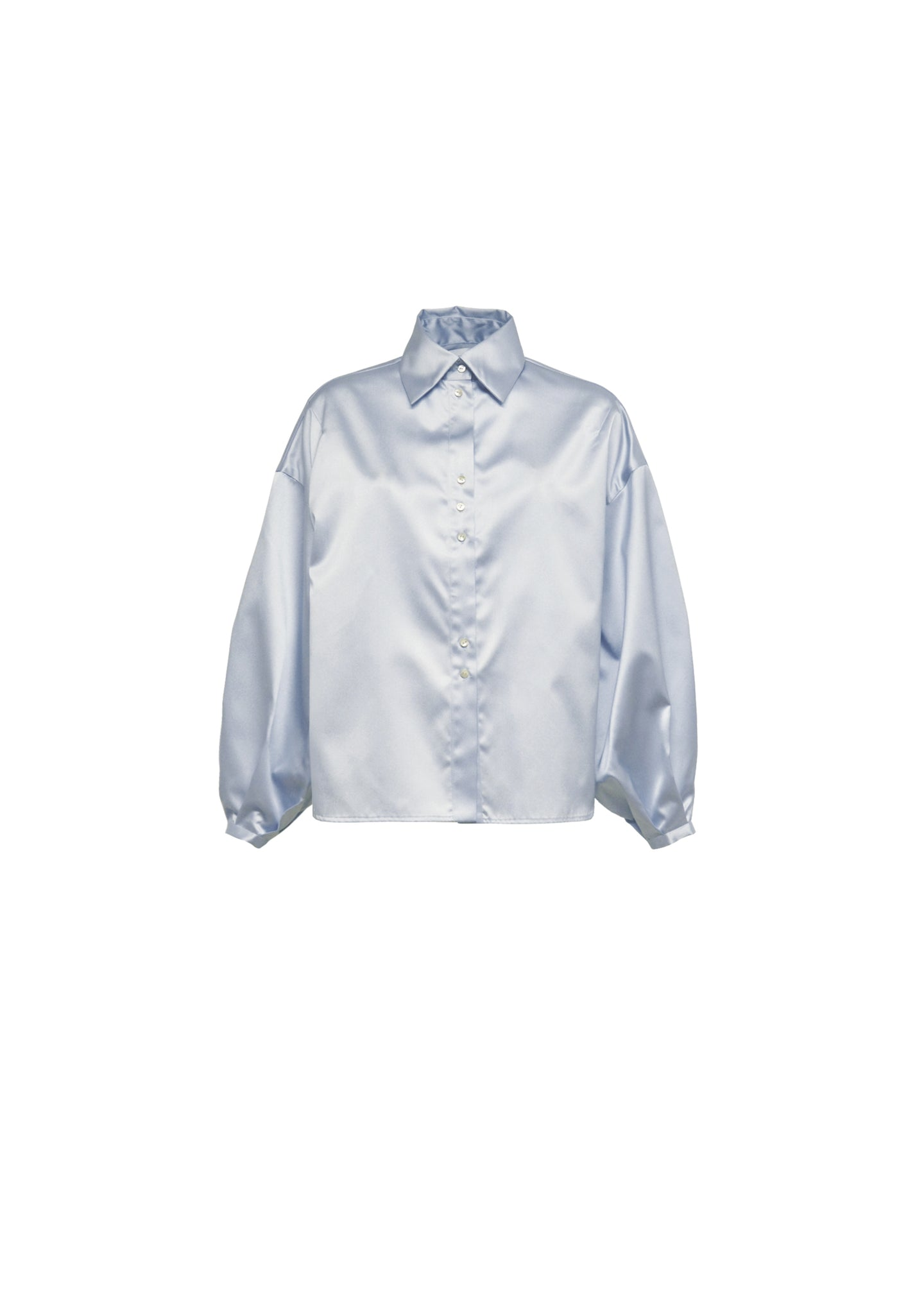 Light blue soft shoulders shirt