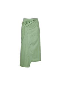Mint asymmetrical skirt