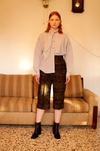 Grid trousers