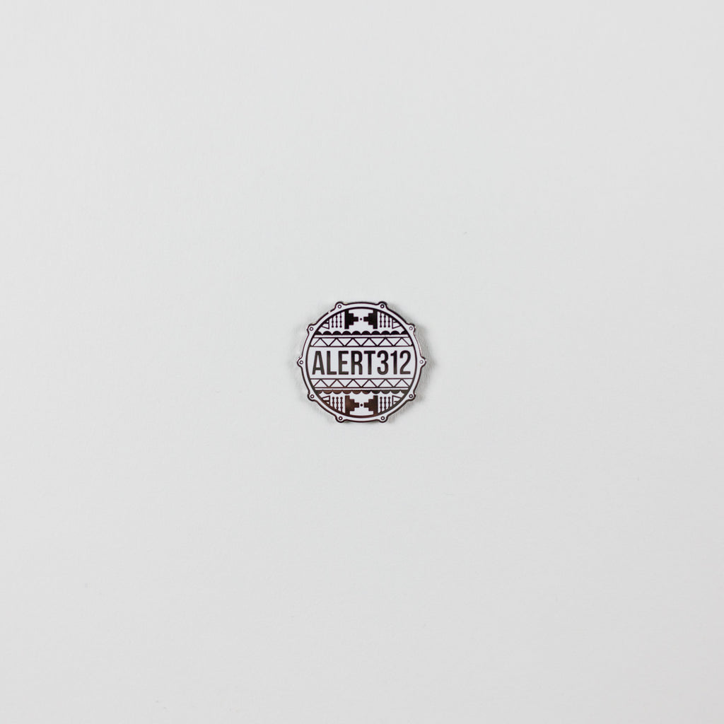 ALERT312 Drum Head Logo Pin