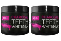 2 x Xpel Activated Charcoal Teeth Whitening Powder Natural Toothpaste 60g