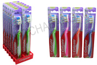 12 x COLGATE ZIG ZAG MEDIUM ORAL TOOTHBRUSH'S WITH SOFT TONGUE CLEANER