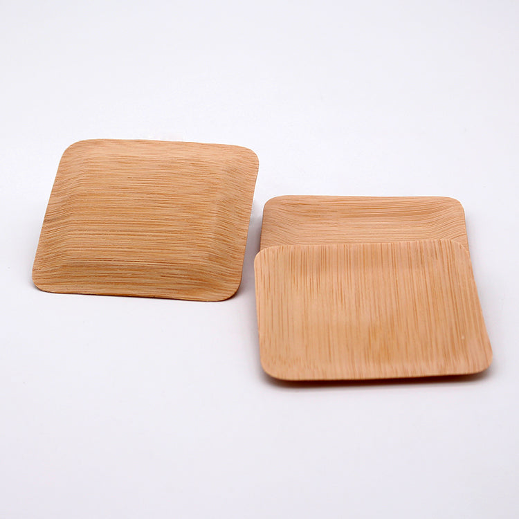 50 st bamboo square plate