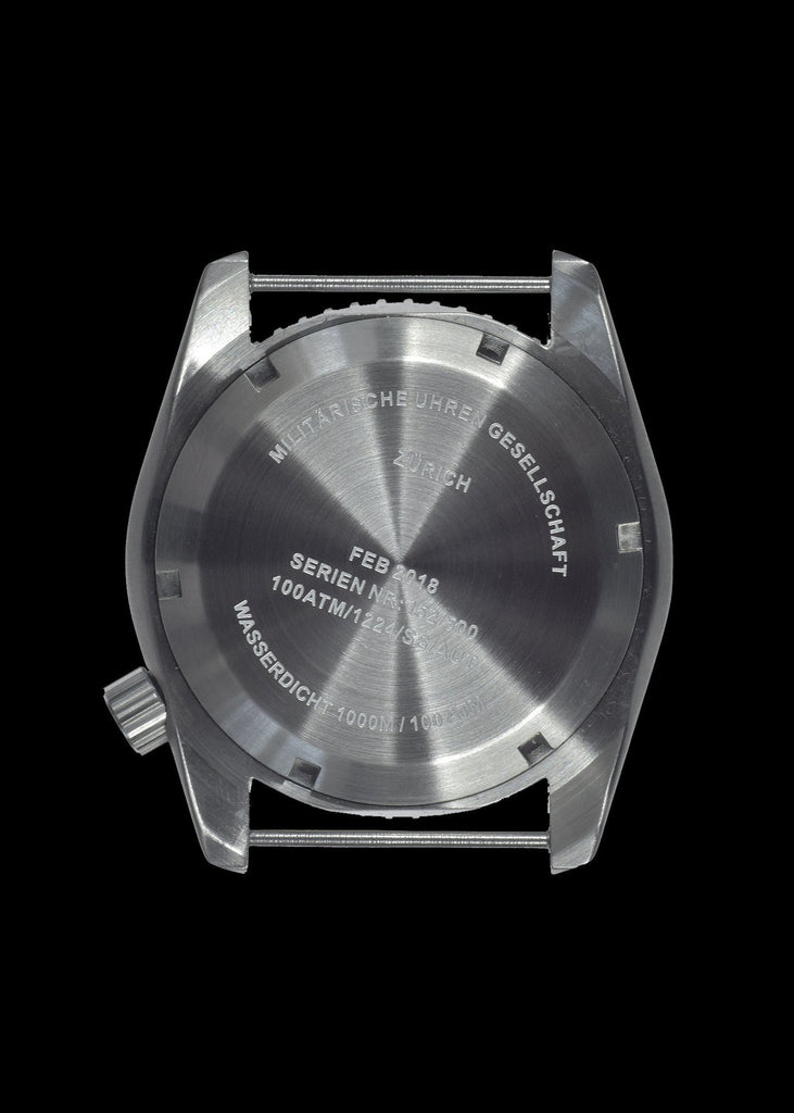 MWC Divers Watch - Depthmaster 12/24, 100atm/3,280ft/1000m Water Resistant, Stainless Steel, Helium Valve (Automatic)
