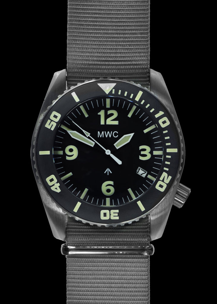 MWC Divers Watch - Depthmaster, 100atm / 3,280ft / 1000m Water Resistant Military Divers Watch, Stainless Steel Case, Helium Valve (Automatic)