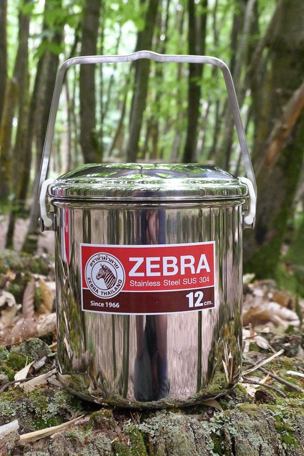 Zebra 12cm Loop Handle Pot (Plastic Clips)
