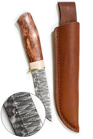 Karesuando Kniven - Northen Lights Damascus Steel 10cm Knife