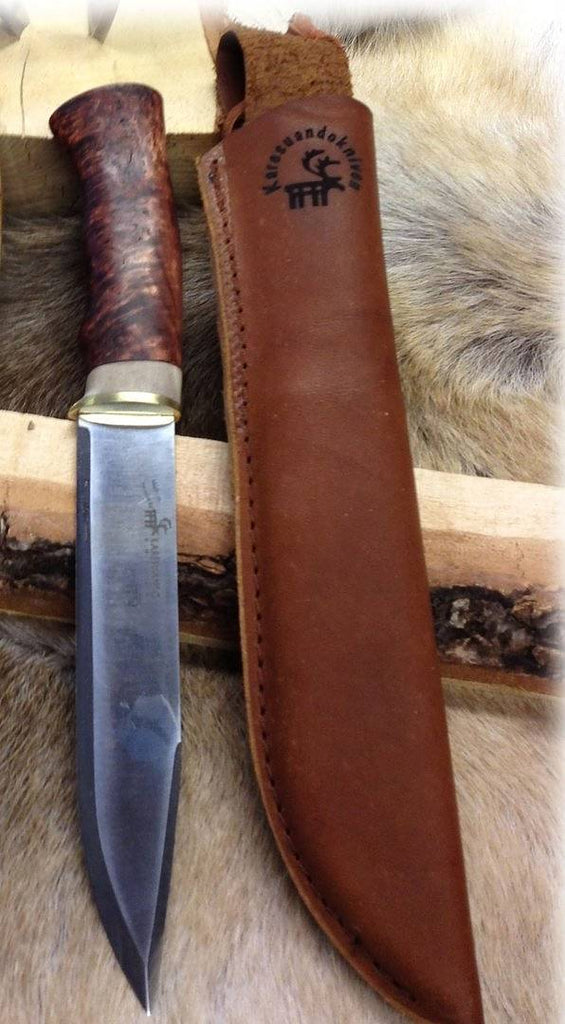 Karesuando Kniven - Large Hunter - Dark Curly Birch