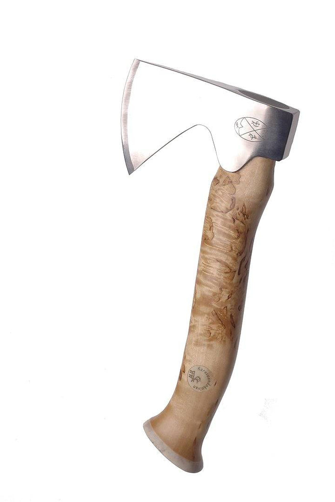 Karesuando Kniven - Vougas Àksu Axe with Natural Curly Birch Handle