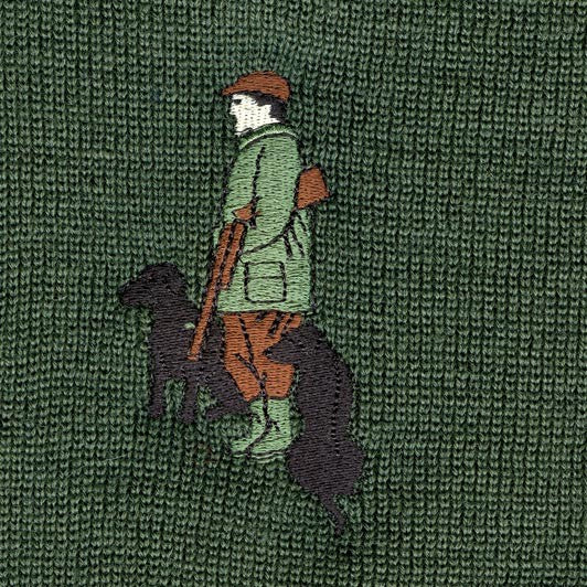 Embroidery - Black Lab Shooting