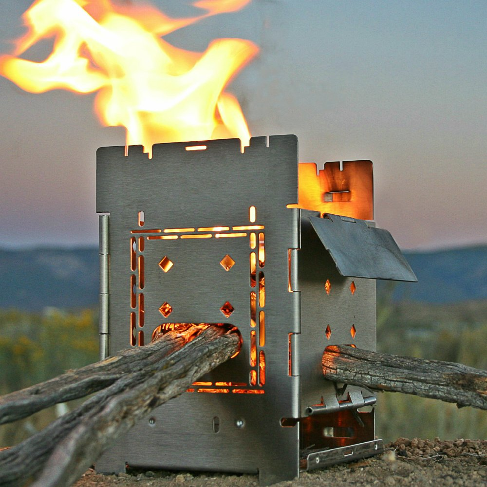 Folding Firebox Campfire Stove (Gen 2) - Deluxe Kit