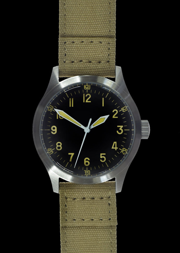MWC Infantry Watch - A-11 1940s WWII Pattern Military Watch (Quartz) with 100m Water Resistance
