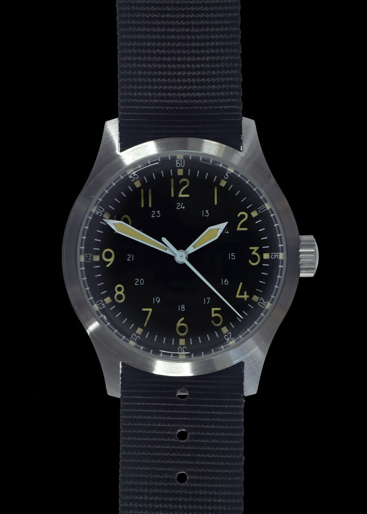 MWC Classic Watch - A-17 Classic 1950s Pattern US Korean War Issue Watch, 24 Jewel Automatic Movement, 100m Water Resistance