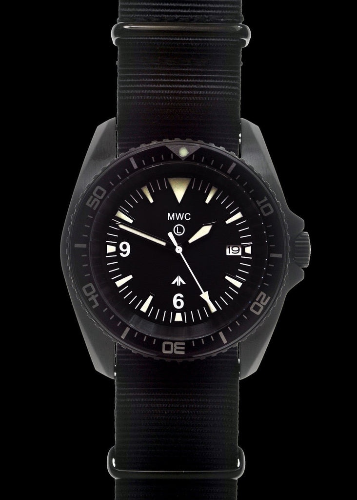 MWC Divers Watch - Military Divers Watch in PVD Steel Case with Sapphire Crystal and Ceramic Bezel (Quartz)
