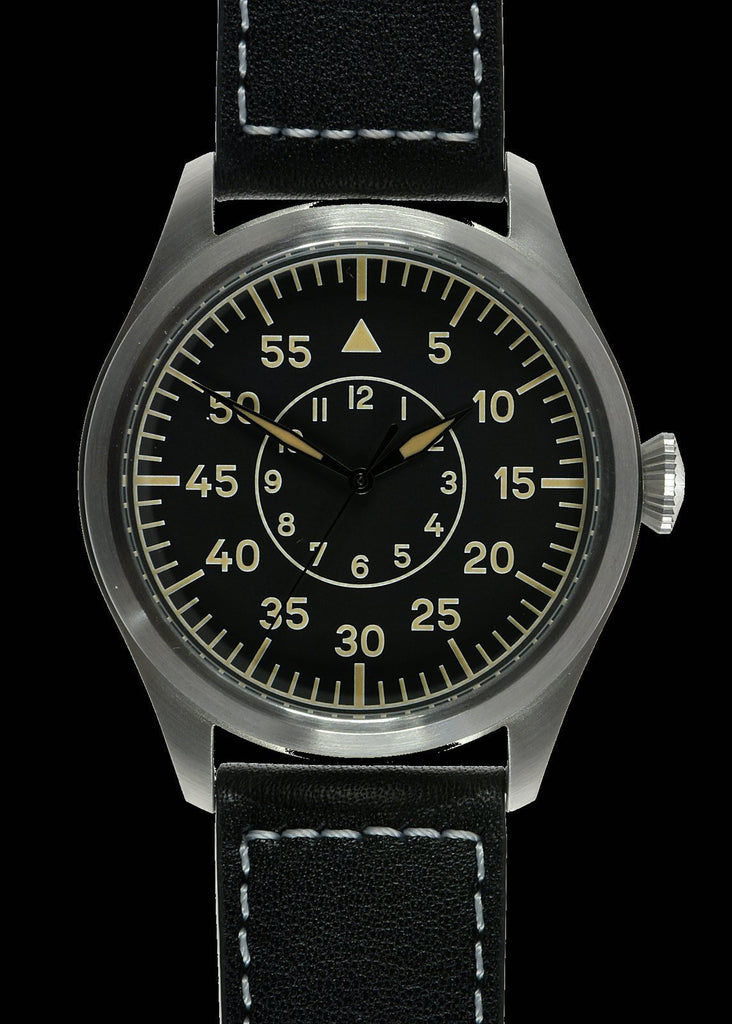 MWC Classic Pilots Watch - 46mm Limited Edition XL Luftwaffe Pattern Military Aviators Watch (Retro Dial Version)