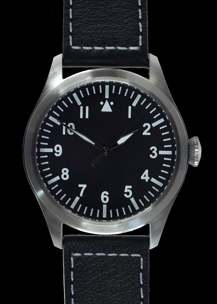 MWC Classic Pilots Watch - 46mm Limited Edition XL Military Pilots Watch with Sweep Second Hand (Unbranded)