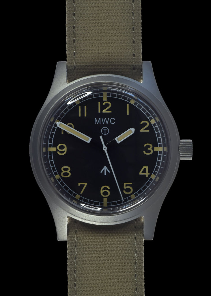 MWC Classic Watch - 1940s to 1960s Pattern General Service Watch with 24 Jewel Automatic Movement (Retro Dial Variant)
