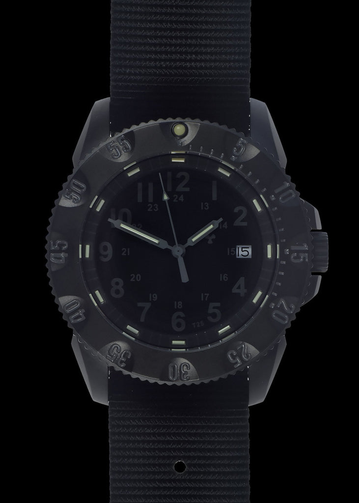 MWC Infantry Watch - P656 Tactical Series Watch, GTLS Tritium, Subdued Dial, 24 Jewel Automatic Movement, Sapphire Crystal (Date Version)