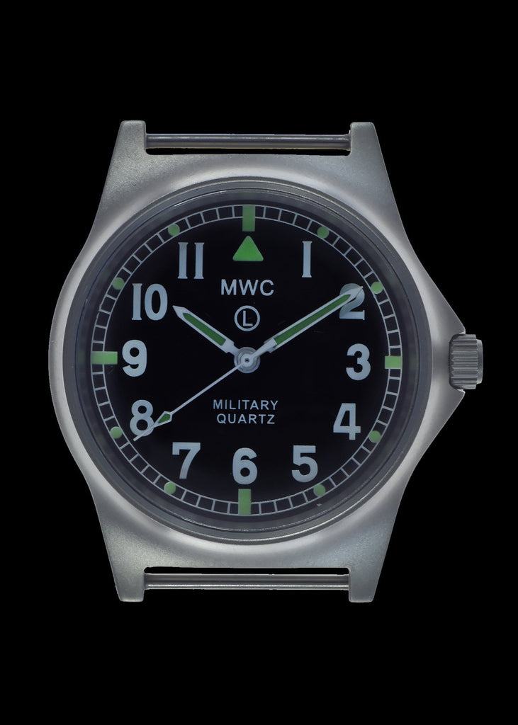 MWC Infantry Watch - G10 LM Stainless Steel Military Watch Non Date (Black NATO Strap)