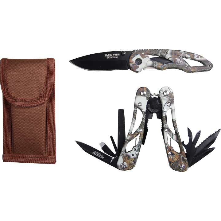 Jack Pyke - Camo Multi Tool & Knife Set