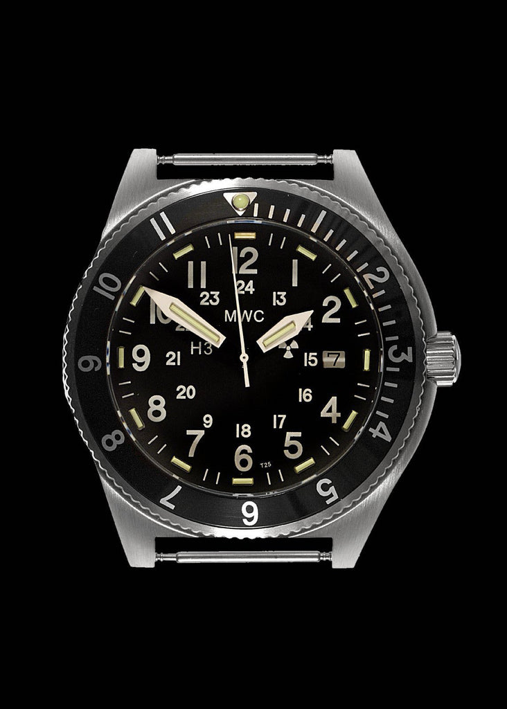 MWC Classic Navigator Watch - 300m Water Resistant Stainless Steel Tritium GTLS Navigator Watch