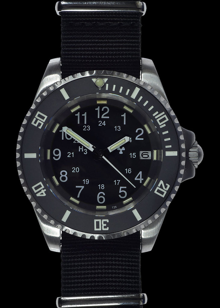 MWC Divers Watch - 24 Jewel 300m Automatic Military Divers Watch, Tritium GTLS, Sapphire Crystal, Ceramic Bezel