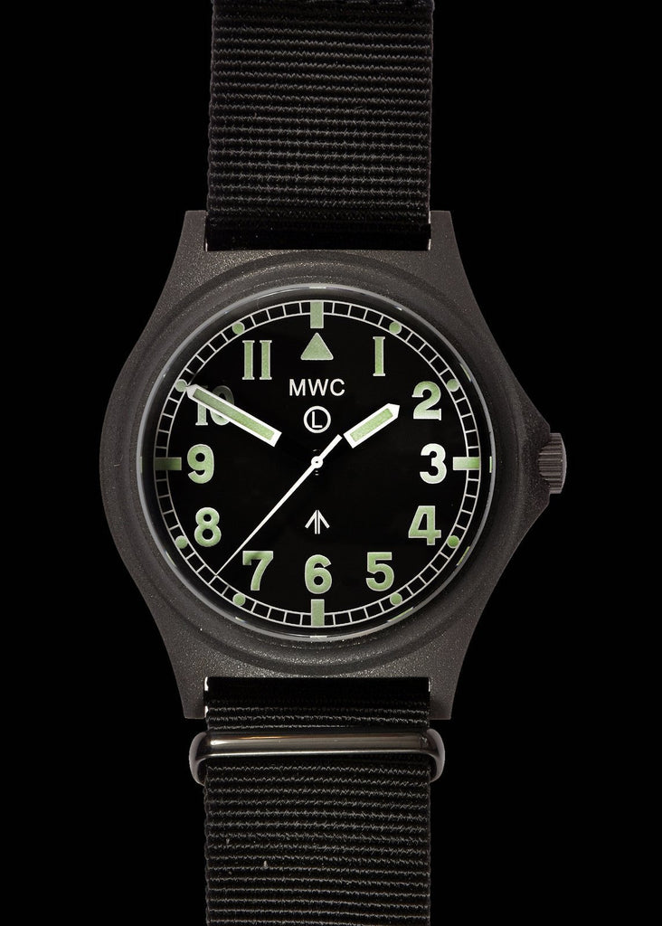 MWC Infantry Watch - G10 300m / 1000ft Water Resistant Military Watch in PVD Steel Case with Sapphire Crystal (Non Date)