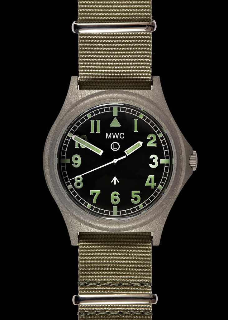 MWC Infantry Watch - G10 300m / 1000ft Water resistant Stainless Steel Military Watch with Sapphire Crystal (Non Date)