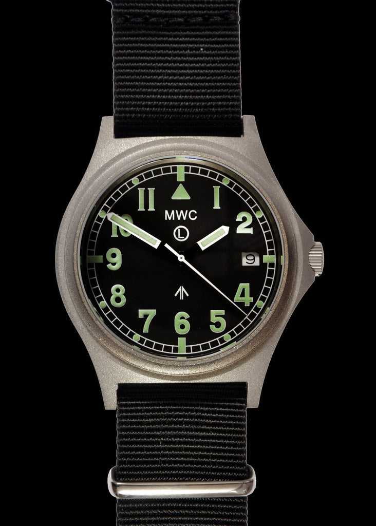 MWC Infantry Watch - G10 300m / 1000ft Water resistant Stainless Steel Military Watch with Sapphire Crystal (Dated)