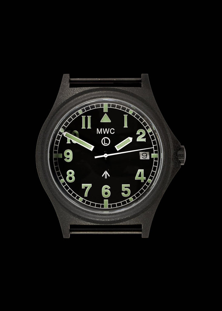 MWC Infantry Watch - G10 300m / 1000ft Water Resistant Military Watch in PVD Steel Case with Sapphire Crystal (Dated)