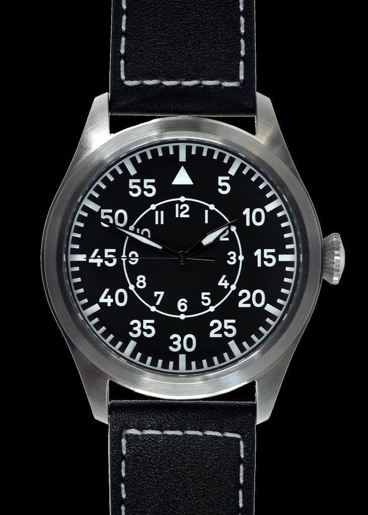 MWC Classic Pilots Watch - 46mm Limited Edition XL Luftwaffe Pattern Military Aviators Watch