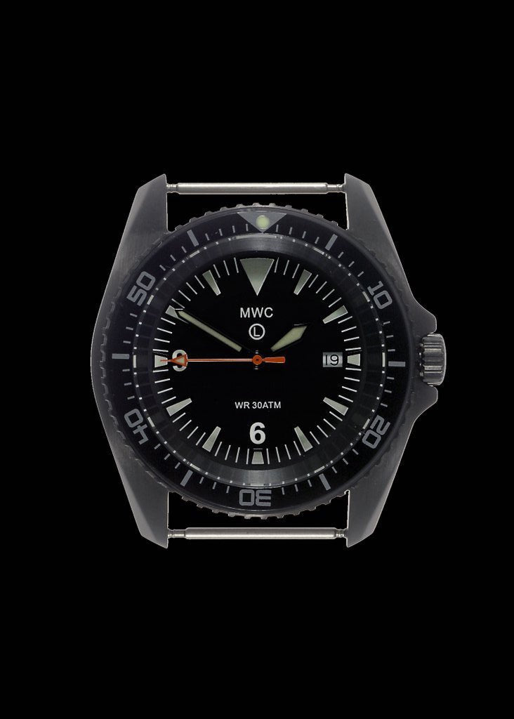 MWC Divers Watch - Heavy Duty Military Divers Watch in a PVD Steel Case (Automatic)