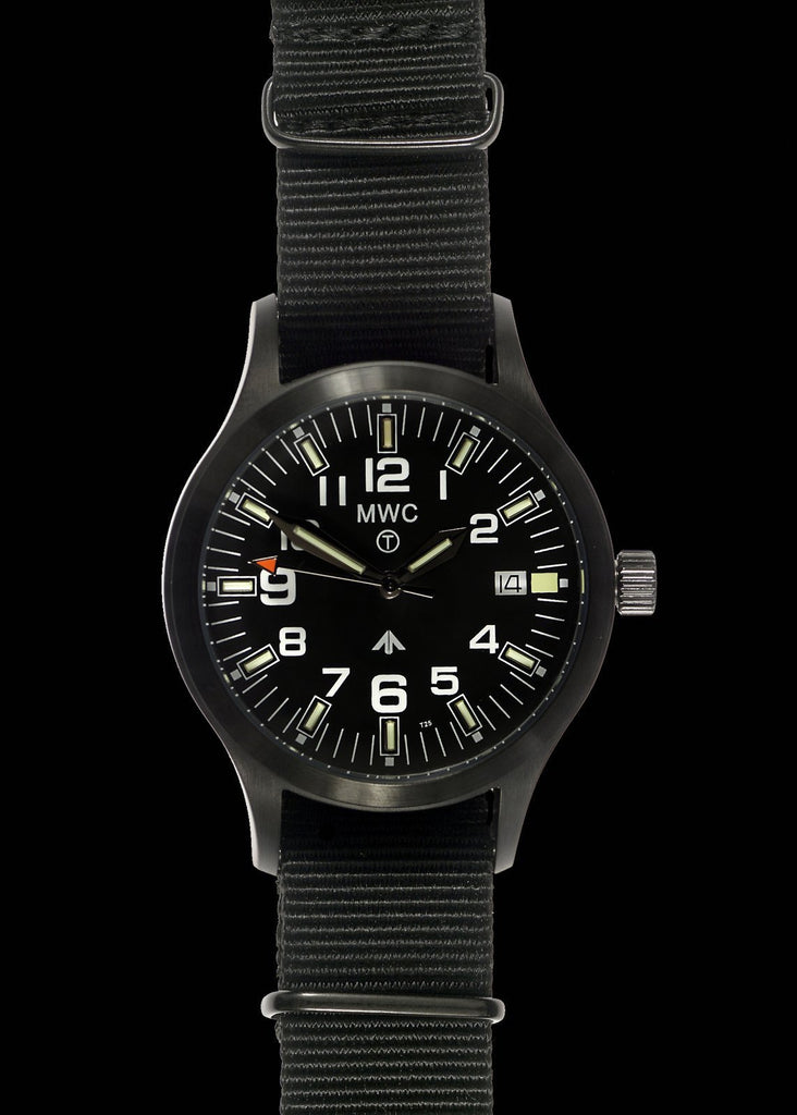MWC Classic Watch - MKIII PVD Steel with Tritium GTLS Tubes (Quartz)