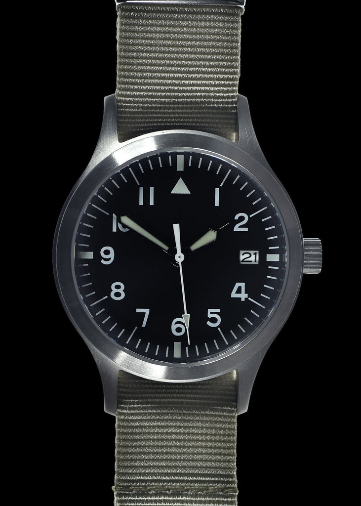 MWC Classic Watch - Mk III Stainless Steel 1950's Pattern 100m Water Resistant Automatic Military Watch, Sapphire Crystal (Unbranded Variant)