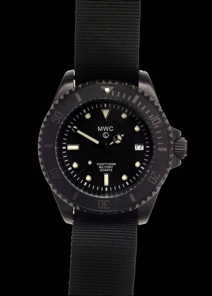 MWC Divers Watch - 300m / 1000ft PVD Steel Military Divers Watch (Quartz)
