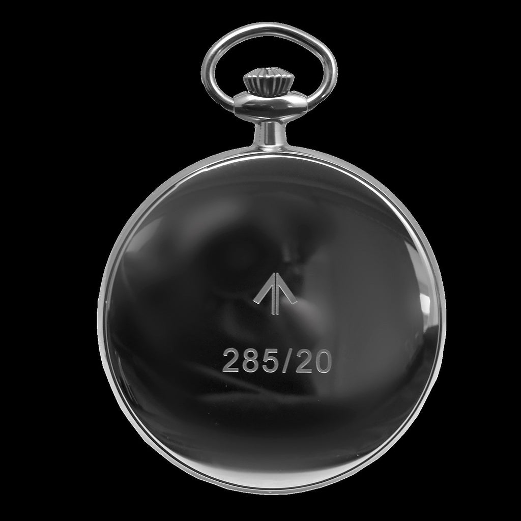 MWC Pocket Watch - General Service Military, Black Dial - 24 Jewel Automatic with Option to Hand Wind